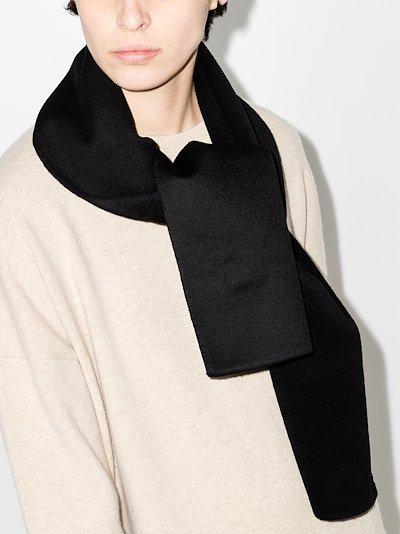 black cashmere wool scarf