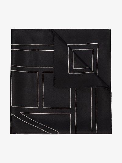 black Pantelleria silk scarf