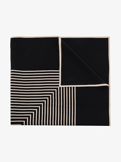 black Venezia silk scarf