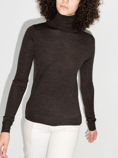 fine knit turtleneck sweater