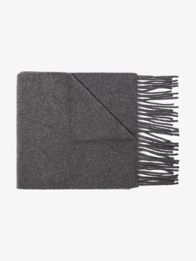 long fringed edge scarf