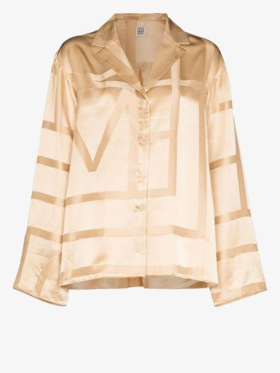 monogram silk shirt