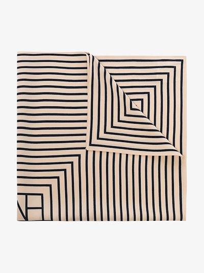 neutral San Remo silk scarf