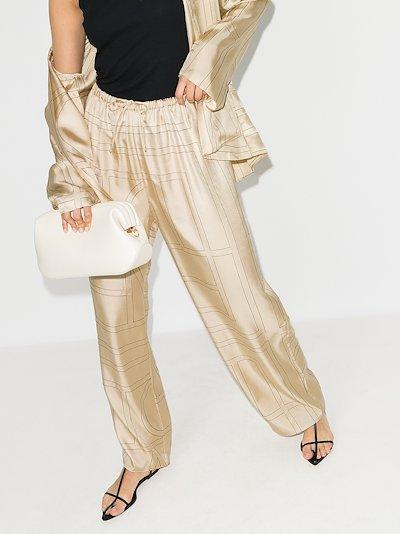 Vizelle monogram silk trousers