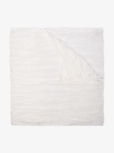 white textured silk scarf