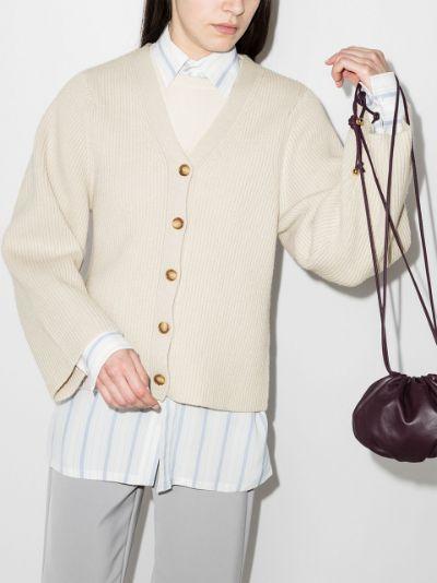 wide sleeve wool cardigan