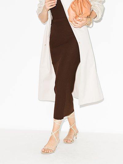 X Browns 50 Espera ribbed midi skirt