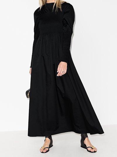 X Browns 50 smocked cotton maxi dress
