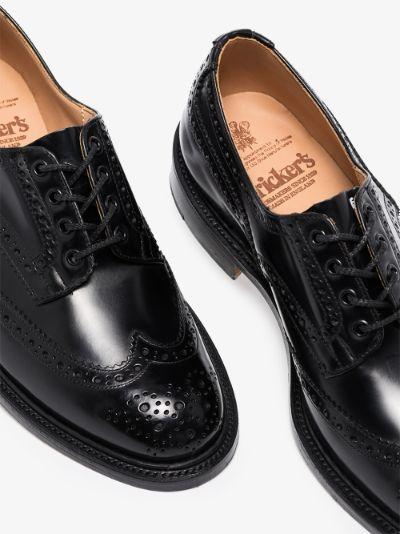 black Bourton leather brogues