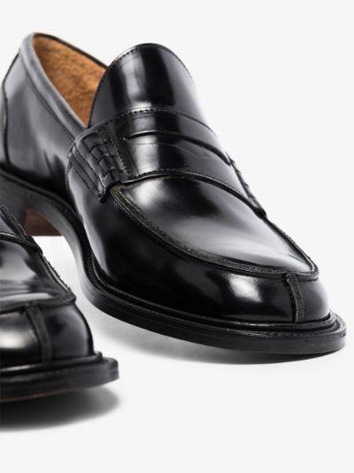 Black James Bookbinder Leather Loafers