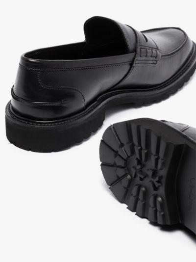 Black James Olivvia leather loafers