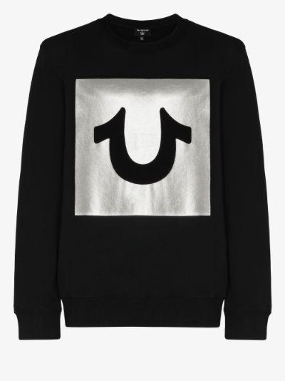 foil logo sweatshirt