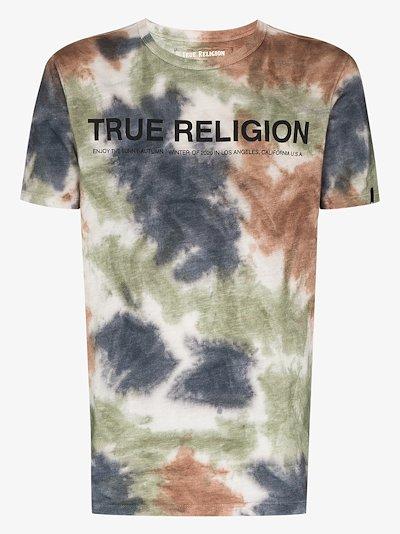 tie-dye logo T-shirt