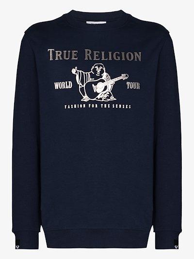 World Tour logo print sweater
