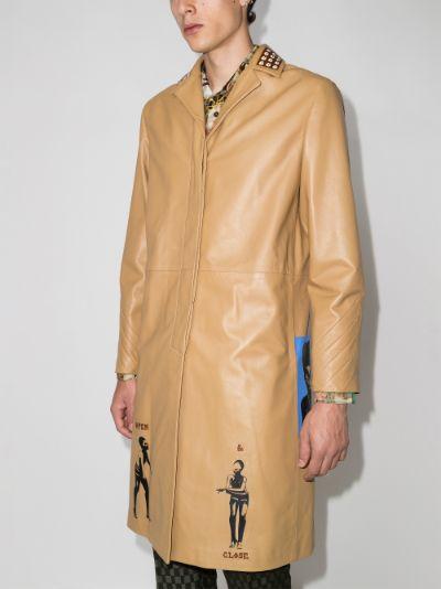 X Browns Focus Sunsum leather coat