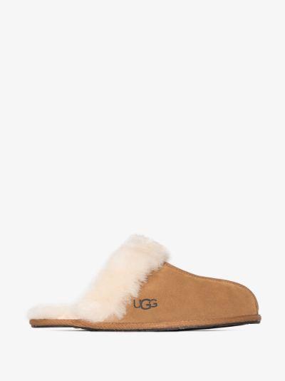 brown Scuffette II suede slippers
