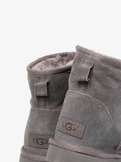 grey Classic Mini II shearling ankle boots