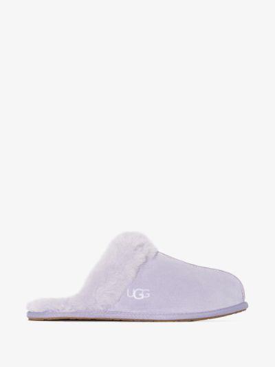 purple Scuffette II suede slippers