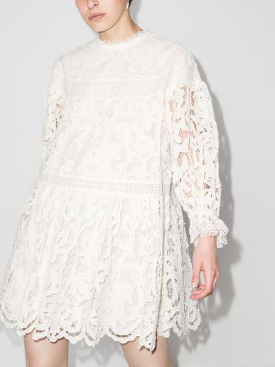 Albertine ruffle tiered dress