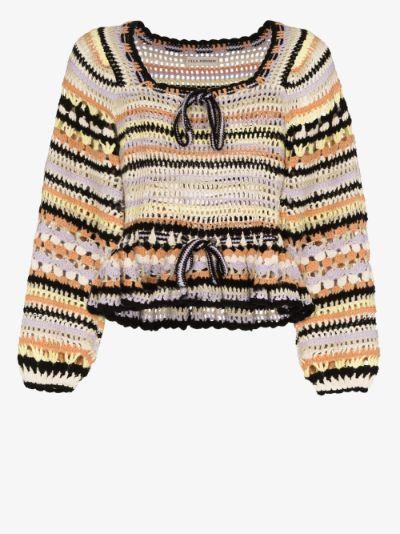 Constanza crochet blouse