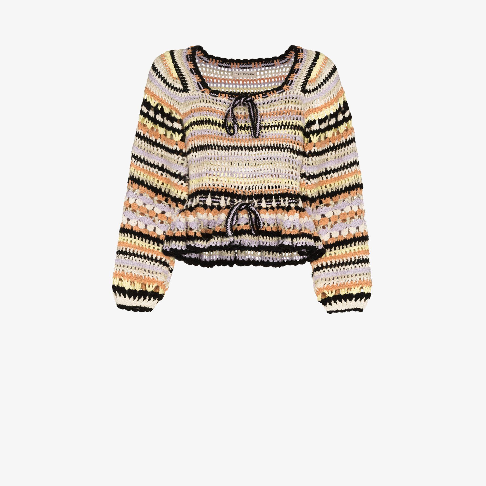 Ulla Johnson Constanza striped crochet top   Browns