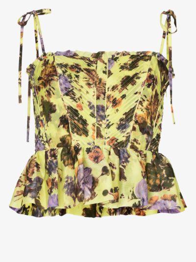 Effie floral print peplum top