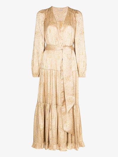 Helena silk tie waist dress