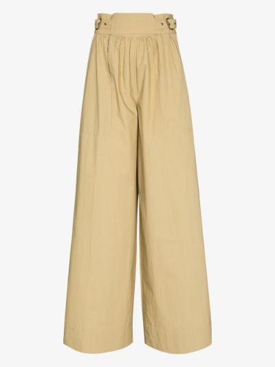 Leo wide leg cotton trousers