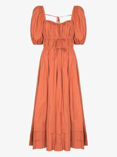 Palma ruched cotton dress