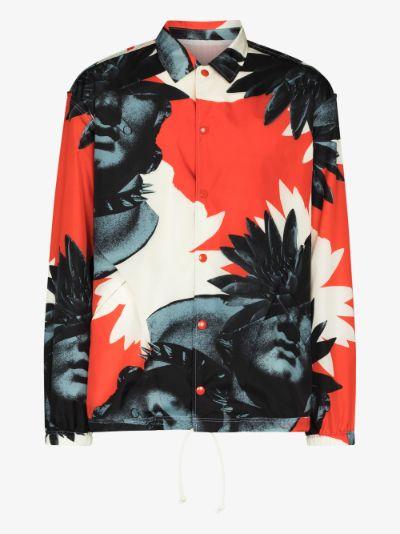 face print shirt jacket