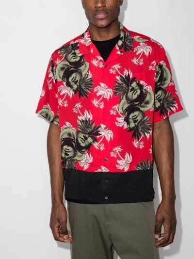 face print short sleeve shirt