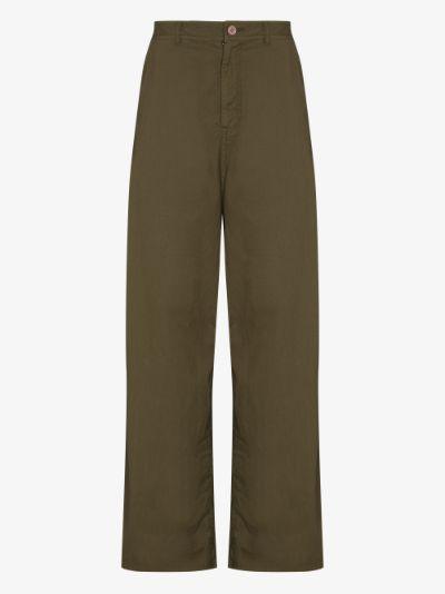 Loose leg cotton trousers