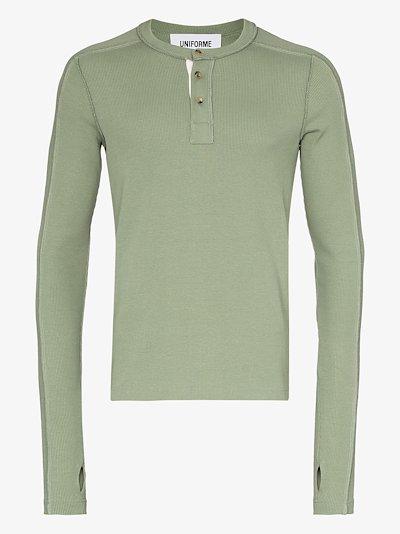exposed seam organic cotton T-shirt