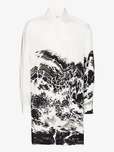 oversized printed shirt