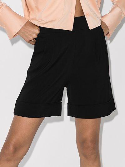 Belle high waist turn-up shorts