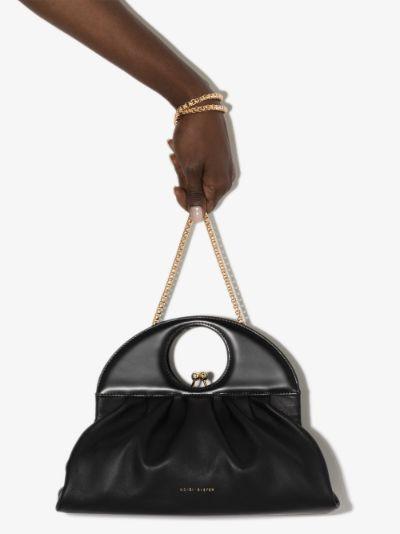 black Lucas leather clutch bag