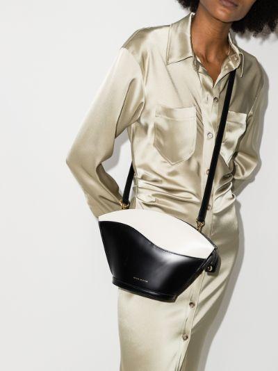 black Sam leather cross body bag