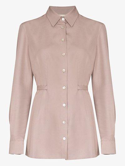 Cornelia waist tie button-down shirt
