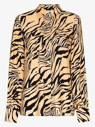Jacquetta tiger print shirt