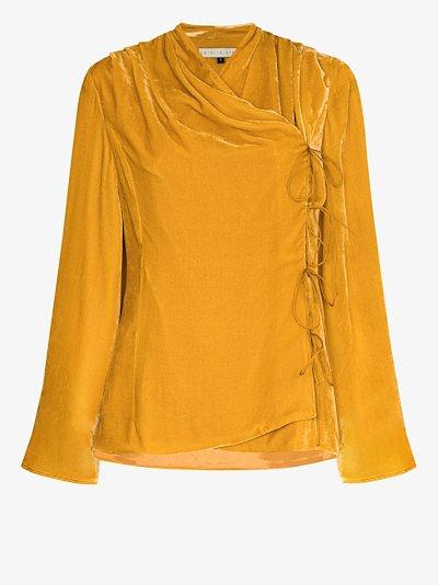 Roya velvet wrap jacket