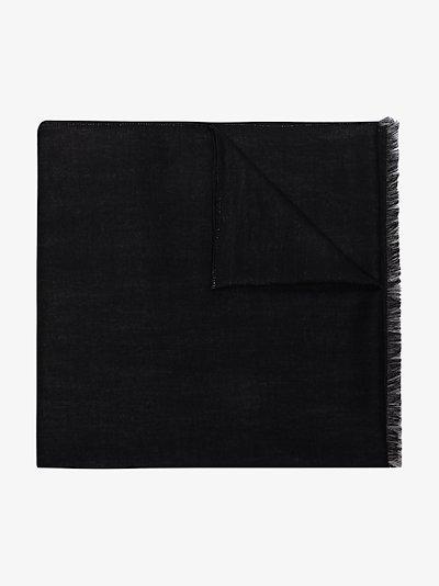 black VLOGO intarsia scarf