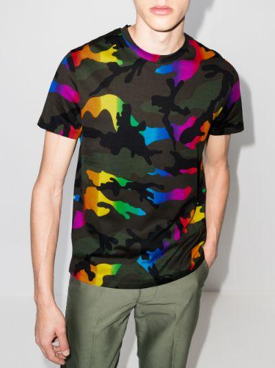 camouflage print cotton T-shirt