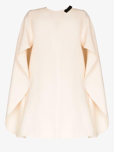 cape mini dress