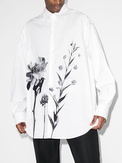 floral motif shirt