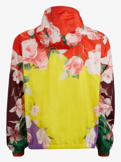 Floral Print Hooded Jacket
