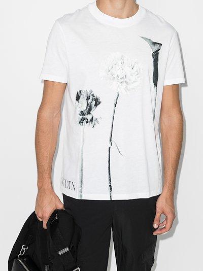flower print cotton T-shirt