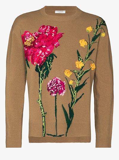 Flowersity Intarsia wool Sweater