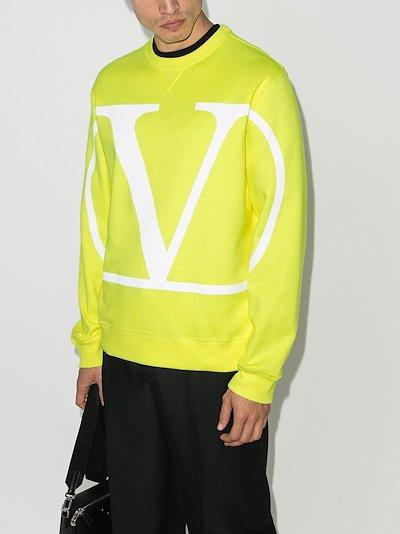 fluorescent VLOGO cotton sweatshirt