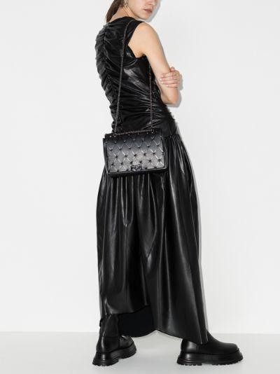 black Beehive leather shoulder bag
