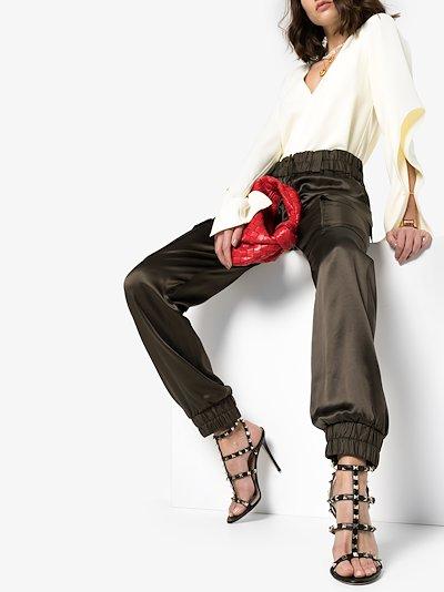 black Garavani Rockstud 110 sandals
